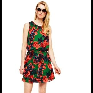 Vince Camuto Sleeveless Batik Floral Dress